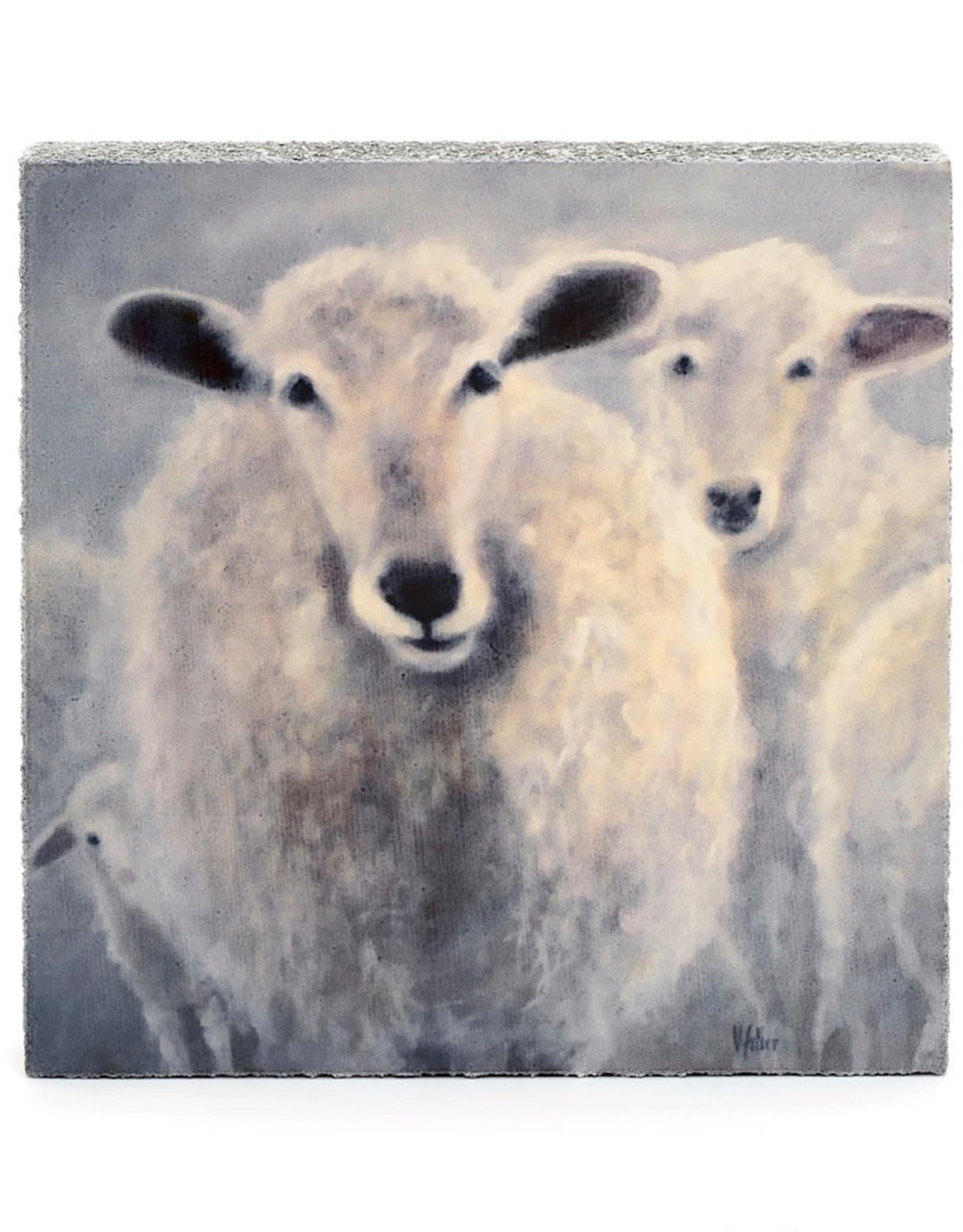 Cedar Mountain Small Art Block Counting Sheep