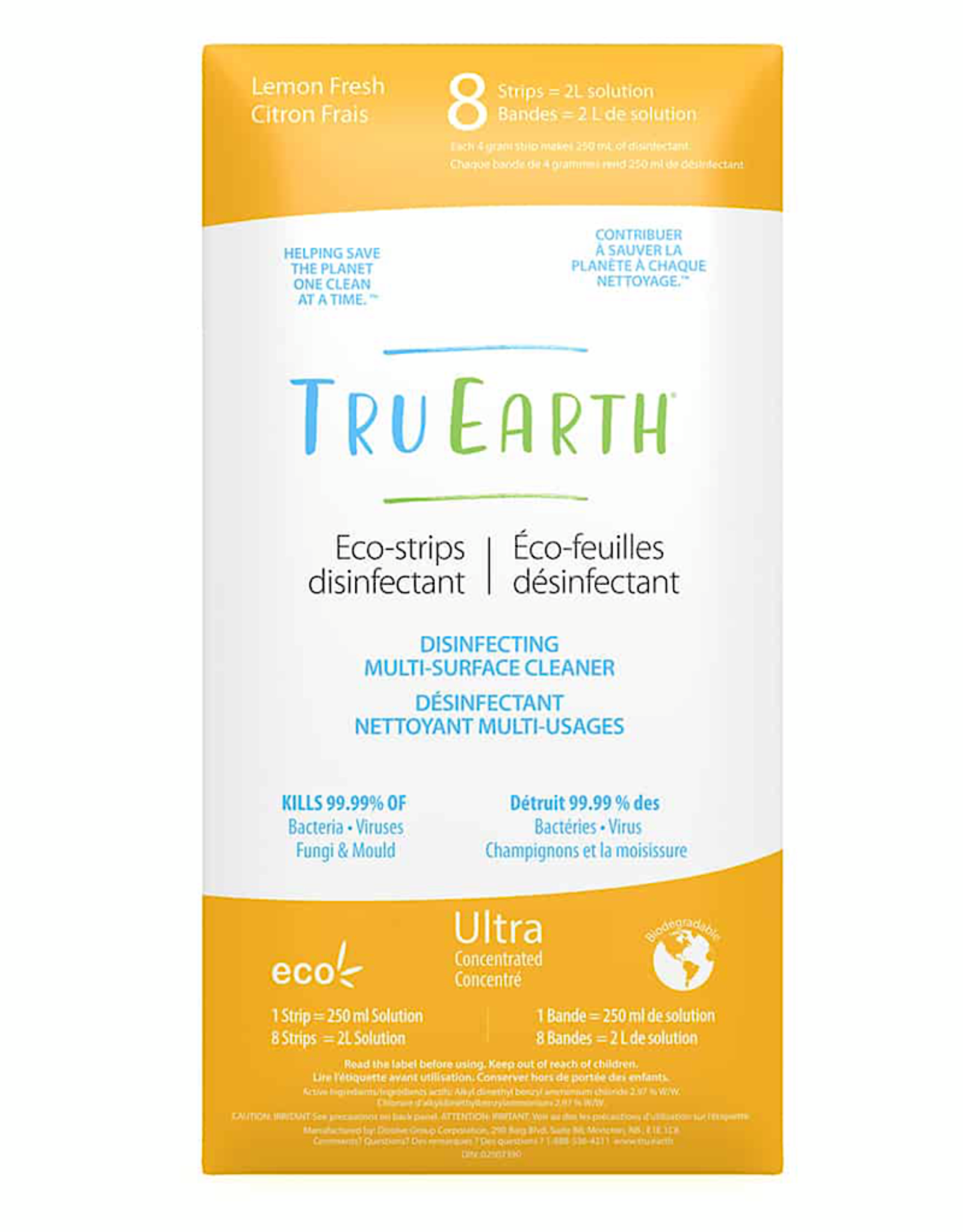Tru Earth Eco-Strip Disinfecting Cleaner 8 Strips
