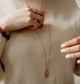Glee Teardrop Necklace Rose Gold