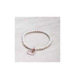 Glee Amore Bracelet Rose Gold White Pearl