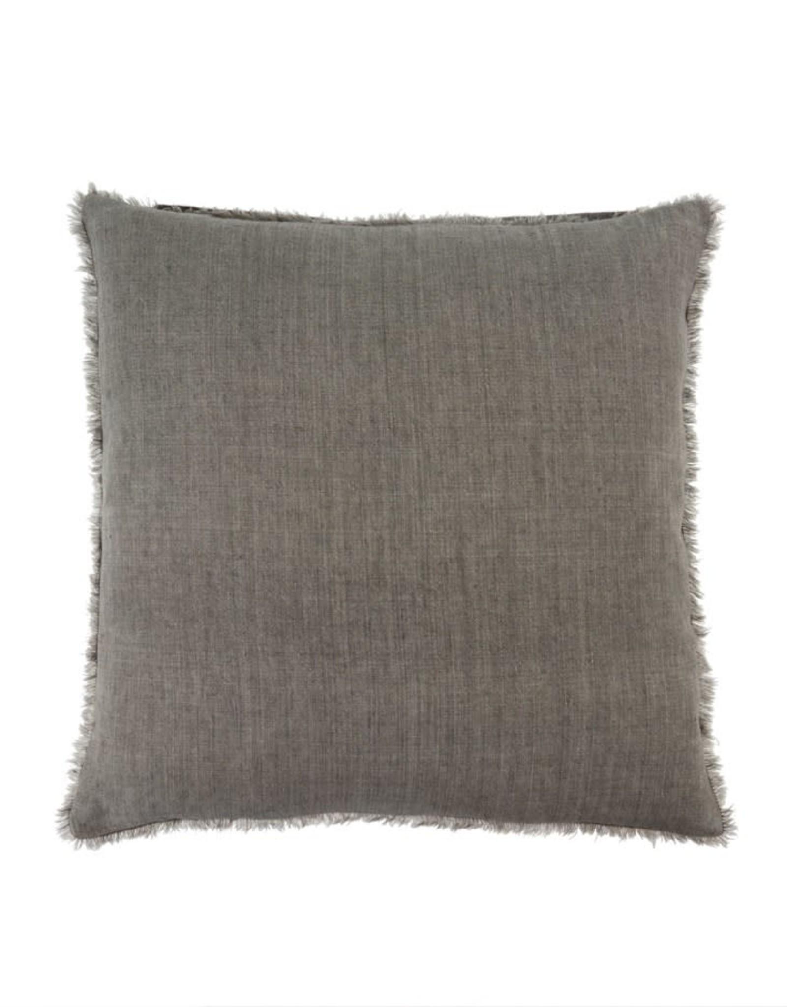 Lina Linen Pillow 24x24 Warm Grey