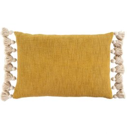 Bora Tassel  Mustard Pillow 16x24