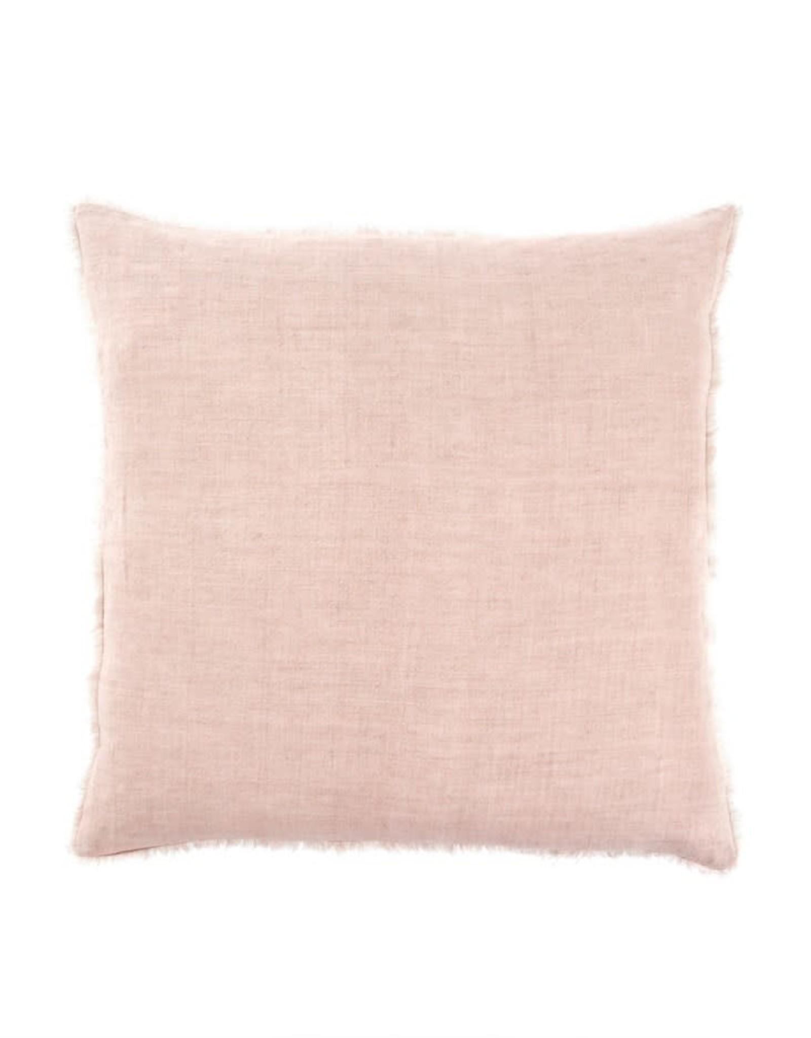 Lina Linen Pillow Dusty Rose 24x24