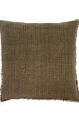 Lina Linen Pillow 24x24 Shadow