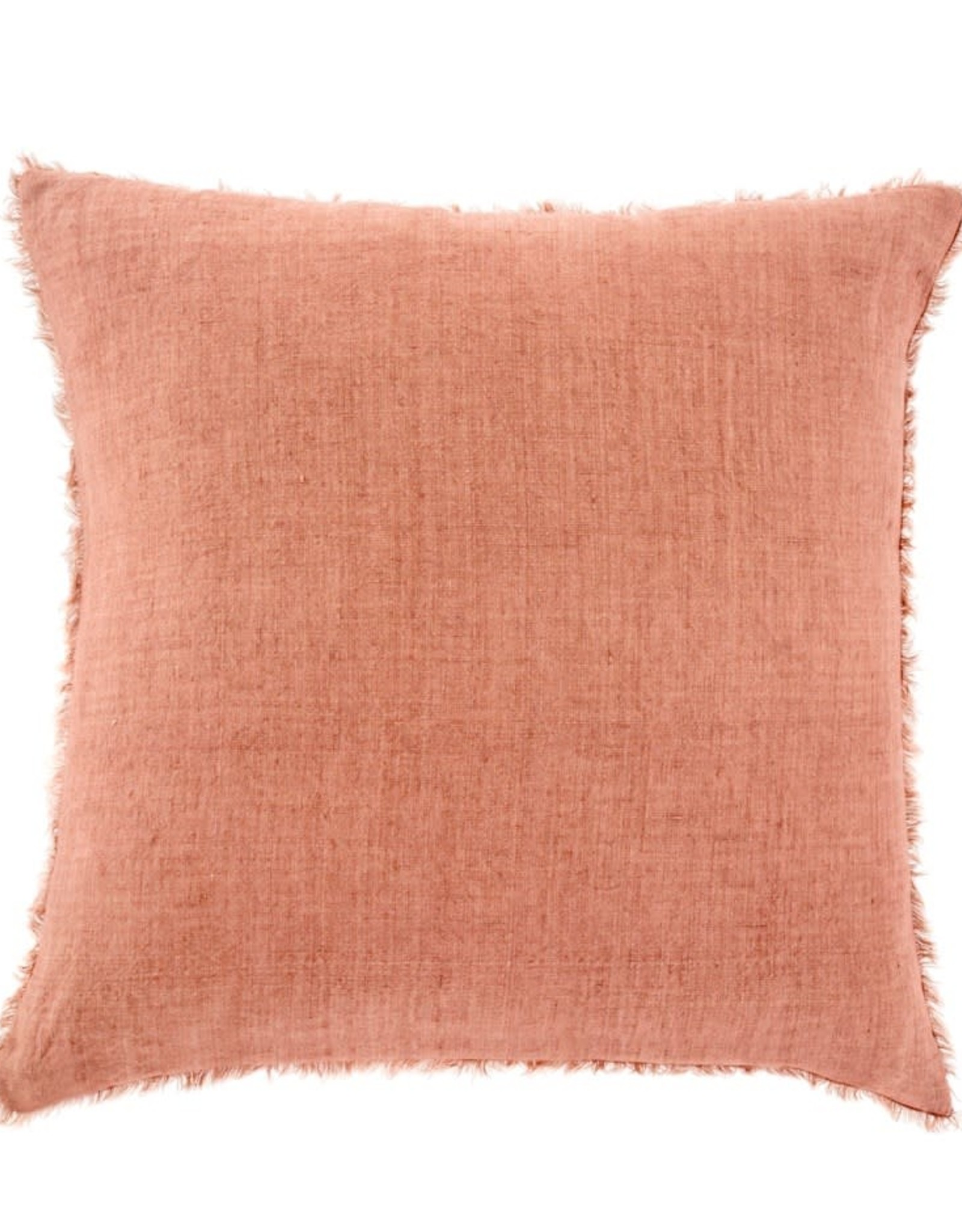 Lina Linen Pillow 24x24 Redwood