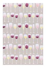 Now Designs Tea Towel Wine Tasting Print