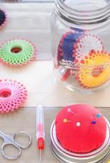 Kikkerland Mason jar sewing kit