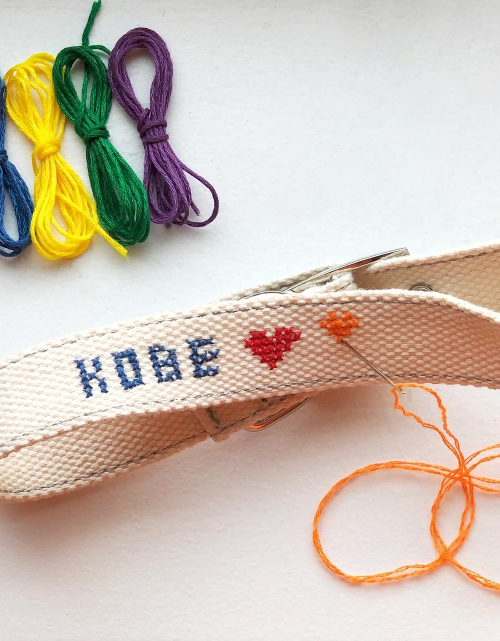 Kikkerland DIY Cross Stitch Dog Collar Small