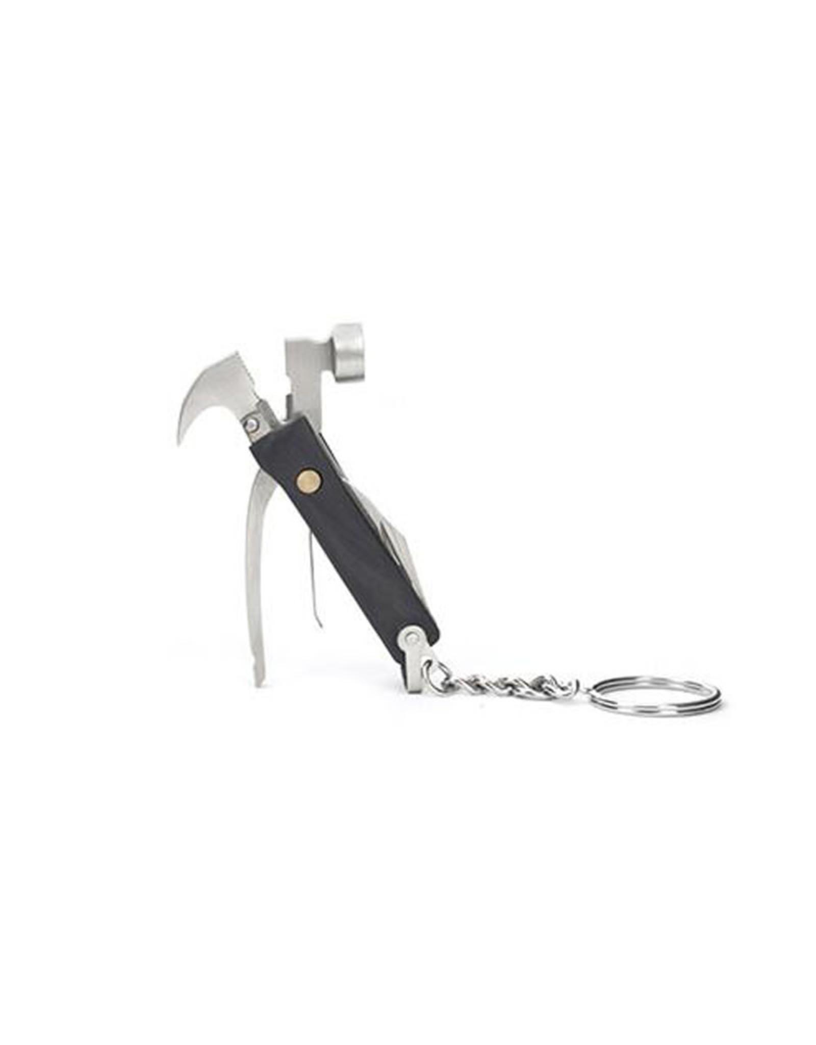 Kikkerland KR13-BK Mini Black Hammer Tool Keychain