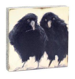 Cedar Mountain Small Art Block Raven Branch