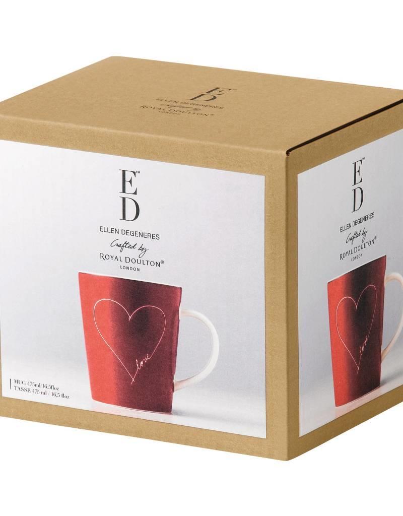 Royal Doulton ED Mug Red with White Heart