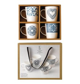 Royal Doulton ED Blue Love Mug Set/4 mixed