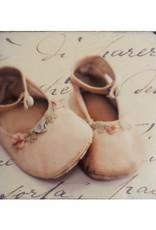 Cedar Mountain Small Art Block Baby Shoes Pink