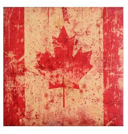 Cedar Mountain Small Art Block Canada Flag