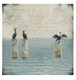 Cedar Mountain Small Art Block Cormorants