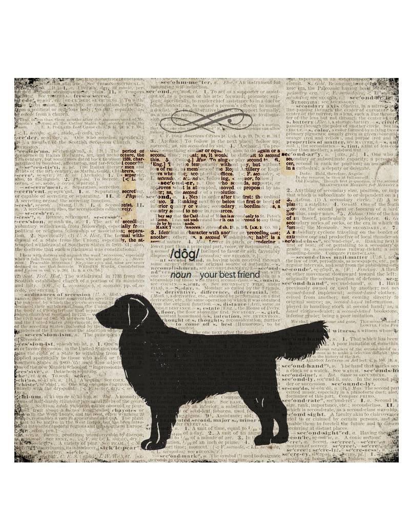 Cedar Mountain Small Art Block Encyclopedia Dog