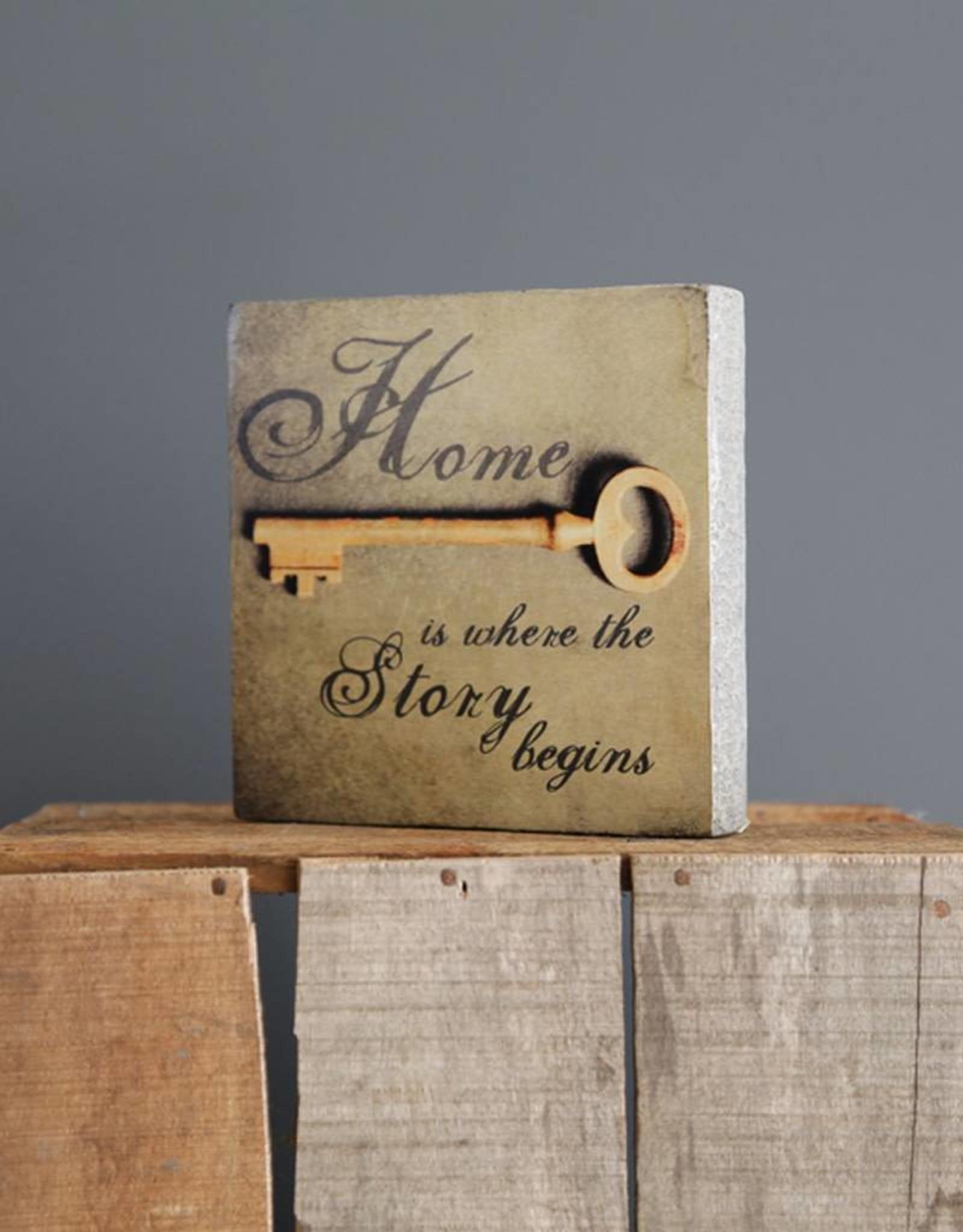 Cedar Mountain Small Art Block Home Story