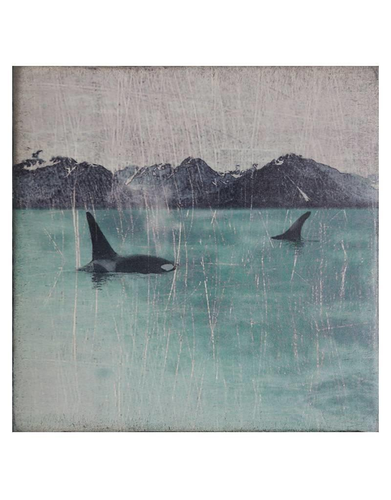 Cedar Mountain Small Art Block Orcas