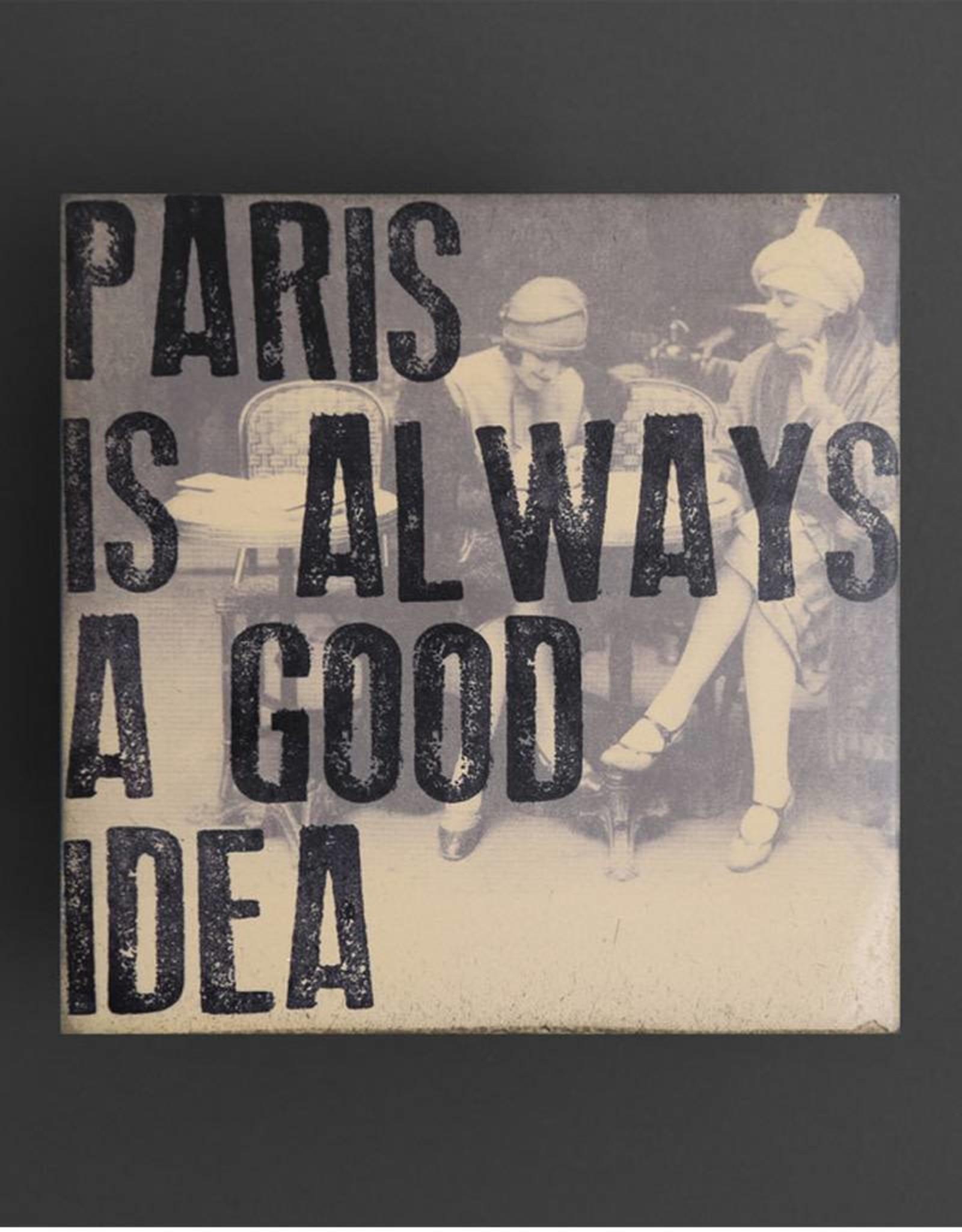 Cedar Mountain Small Art Block Paris is Always