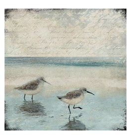 Cedar Mountain Small Art Block Sandpipers