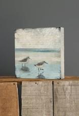 Cedar Mountain Small Art Block Sandpipers