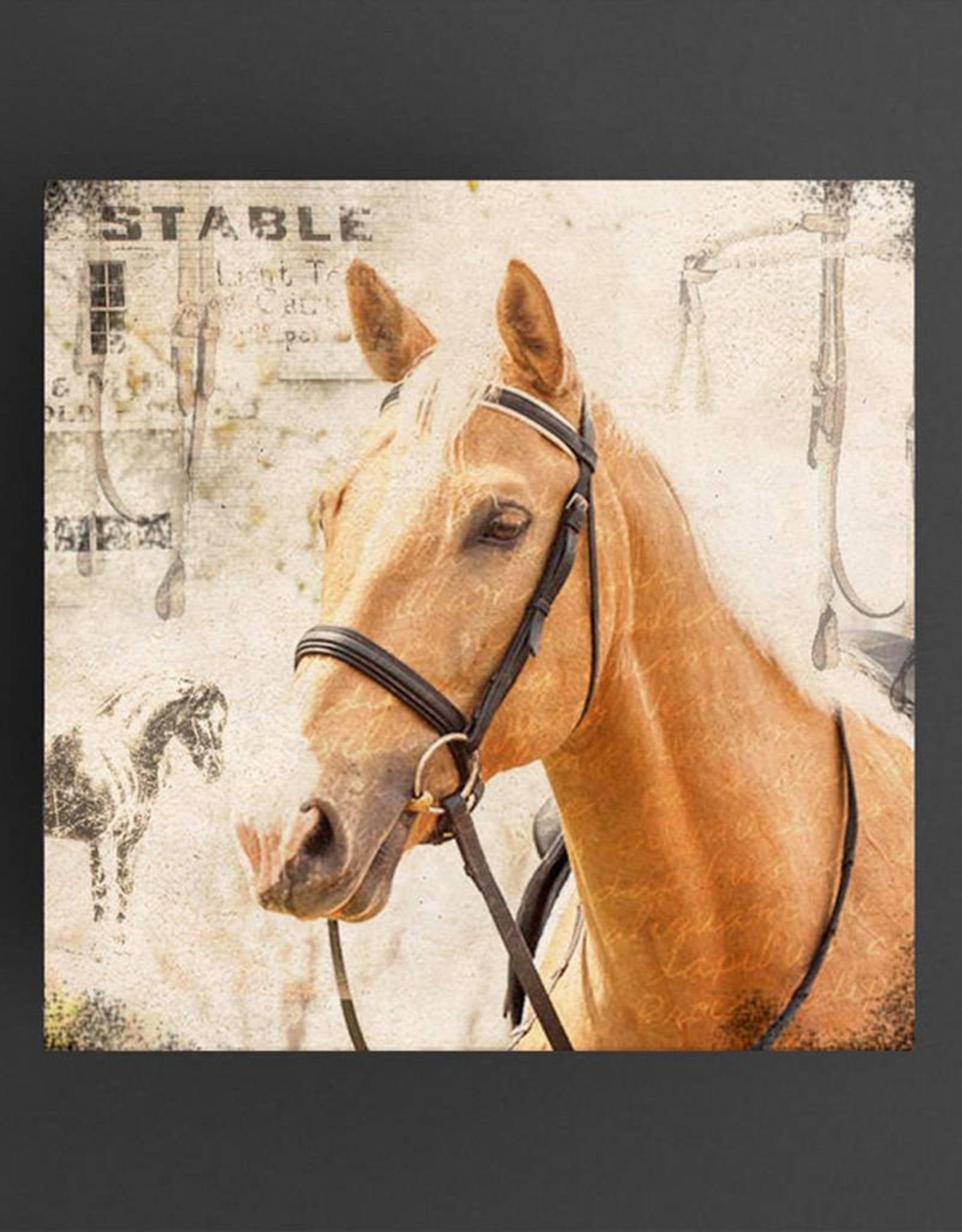 Cedar Mountain Small Art Block Stable horse