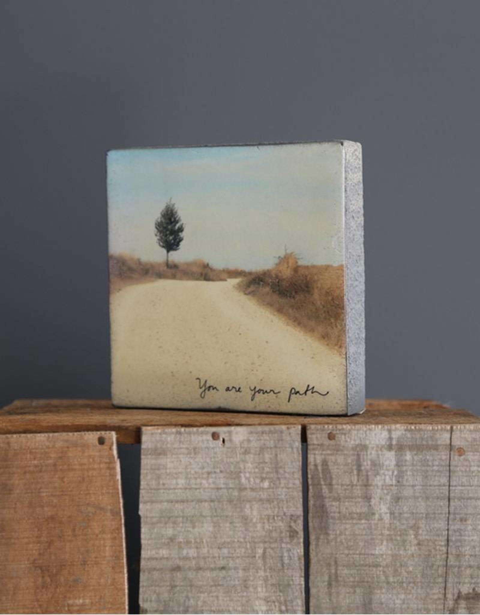 Cedar Mountain Small Art Block You Are Your Path