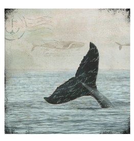Cedar Mountain Small Art Block Whale Tail