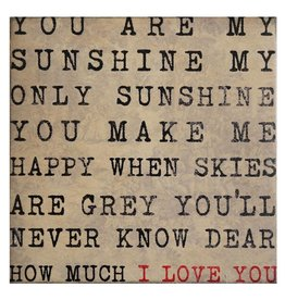 Cedar Mountain Small Art Block You Are My Sunshine