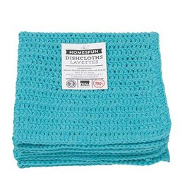 Now Designs Homespun Dishcloth Bali Blue Set Of 2