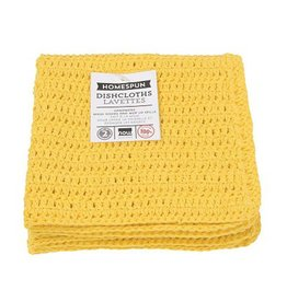 Now Designs Homespun Dishcloth Lemon Set Of 2