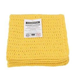 Now Designs Homespun Dishcloth s/2 Lemon