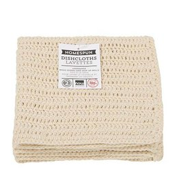 Now Designs Homespun Dishcloth Natural Set Of 2