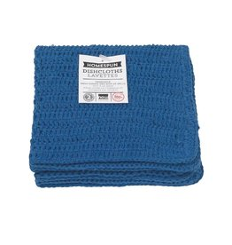Now Designs Homespun Dishcloth Navy Set Of 2