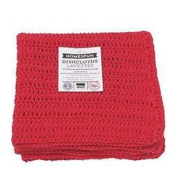 Now Designs Homespun Dishcloth Red Set Of 2