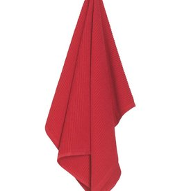 Now Designs Ripple Dishtowel Red
