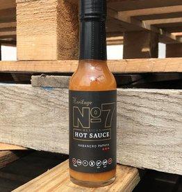 No 7 Hot Sauce Habanero Papaya