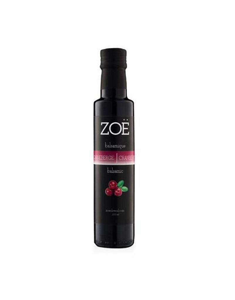 Zoe Balsamic Vinegar 250 ml Cranberry