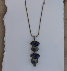 "Michael Michaud Design Blueberry 18"" Adj. Pendant on Snake Chain"
