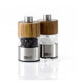 Ad Hoc Salt Pepper Mill Mini Wood Top