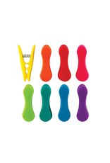 Kikkerland BC24-A Rainbow Bag Clips Set Of 8