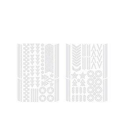 Kikkerland Bike Reflector Stickers Silver