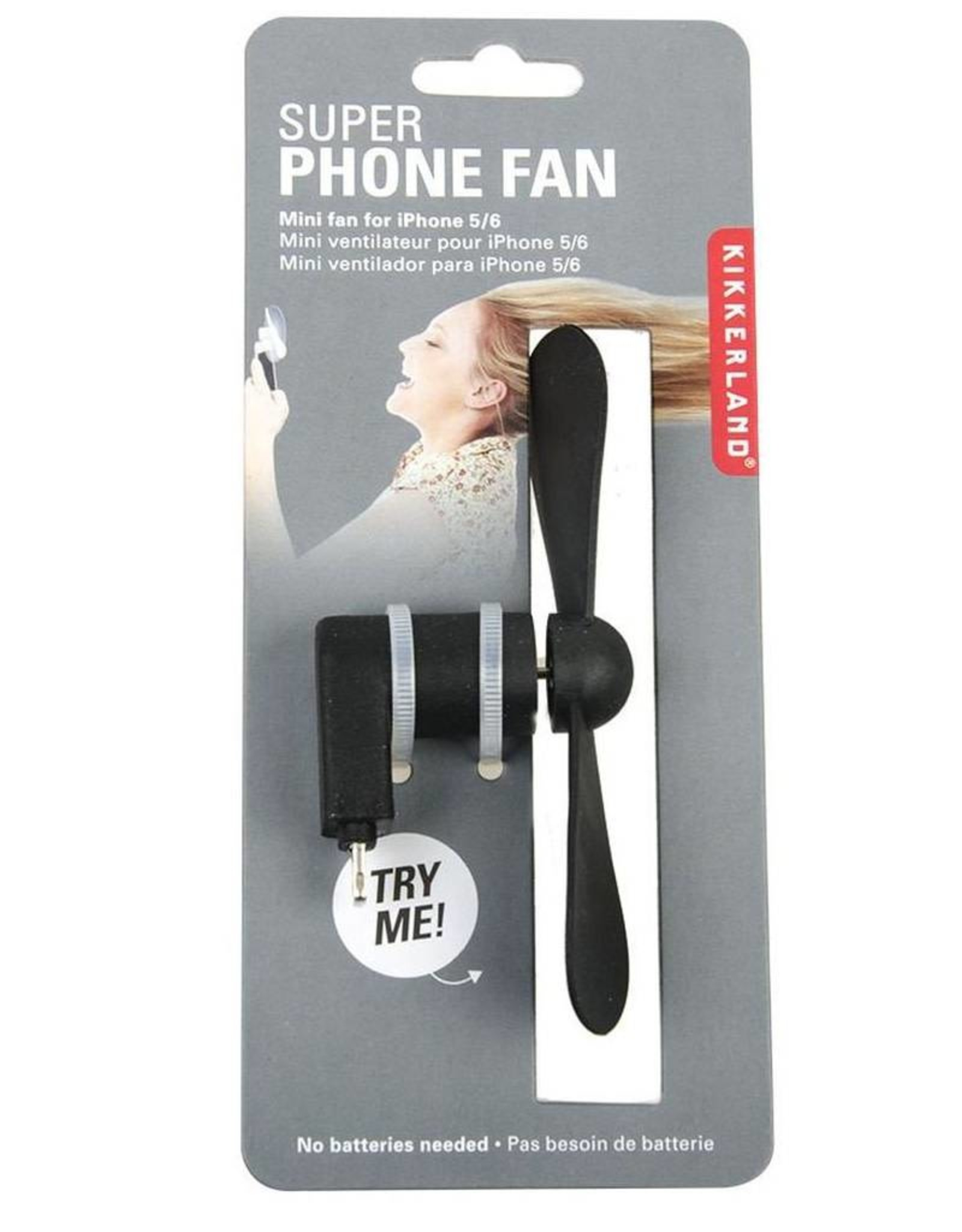 Kikkerland US108-A Iphone Super Fan Assorted Colours