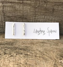 Laughing Sparrow Silver Stick Studs