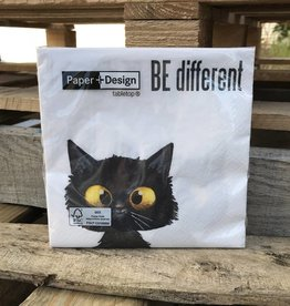 Dinner Napkins Be Different Cat