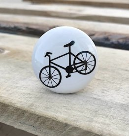 Black and White Bike Knob