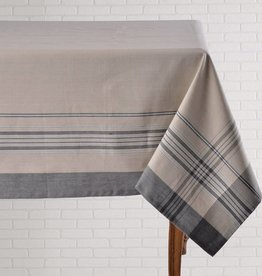 Tablecloth Vintage Stripe Black  60x90