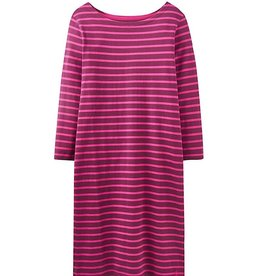 Joules Joules Riviera Jersey Dress Plum Stripe FINAL SALE