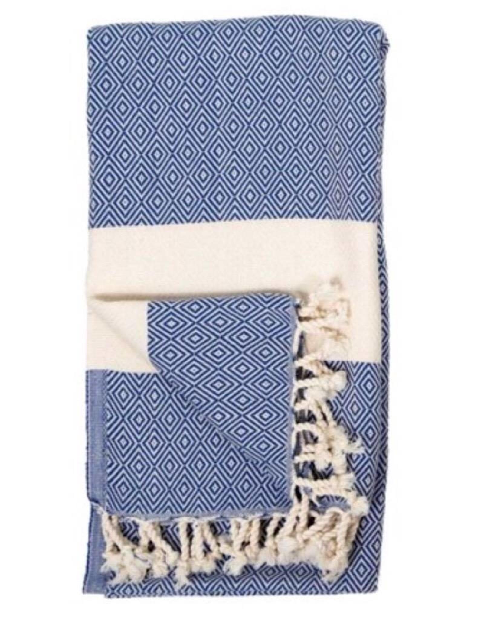 TTD13 turkish towel  Diamond Navy