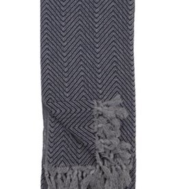 Turkish Towel Fishbone Black